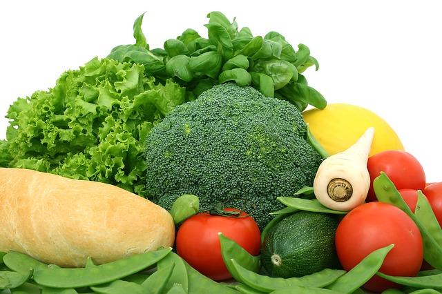 zelenina s bagetou